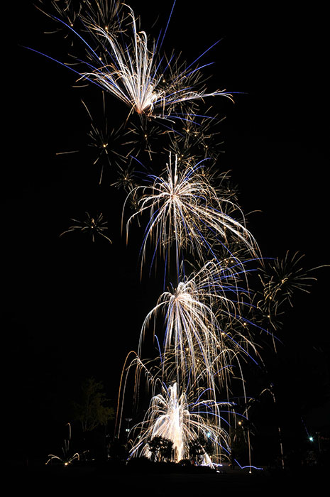 夜空に咲く打ち上げ花火